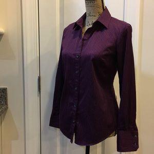 Calvin Klein Deep Berry button down shirt EUC